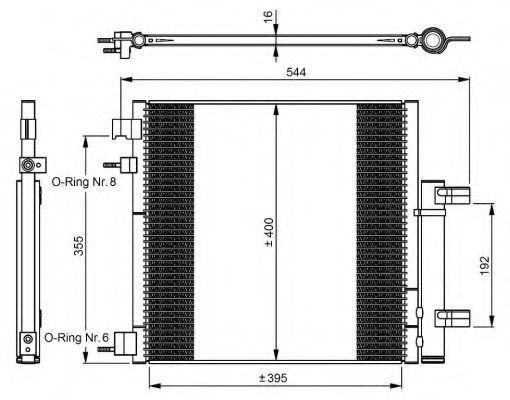 Радиатор кондиционера NRF 350048