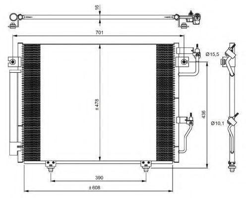 Радиатор кондиционера NRF 350049