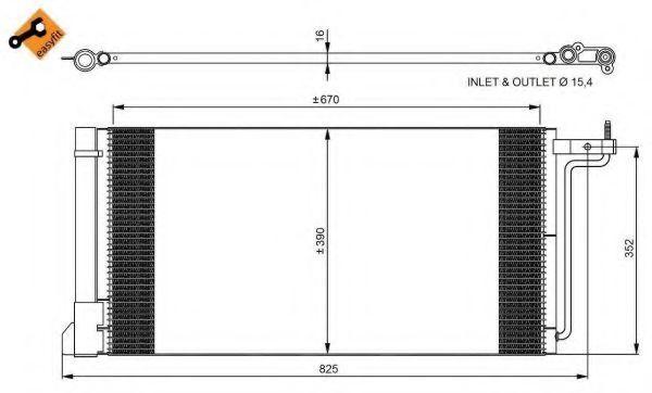 Радиатор кондиционера NRF 350051