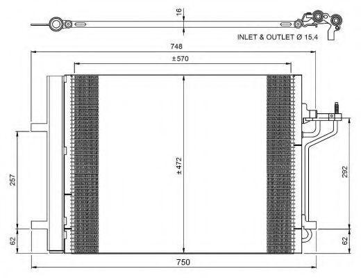 Радиатор кондиционера NRF 350052