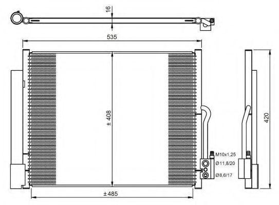 Радиатор кондиционера NRF 350053