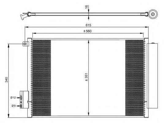 Радиатор кондиционера NRF 350065