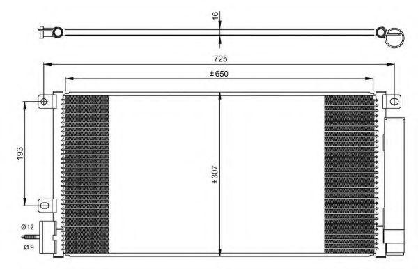 Радиатор кондиционера NRF 350067