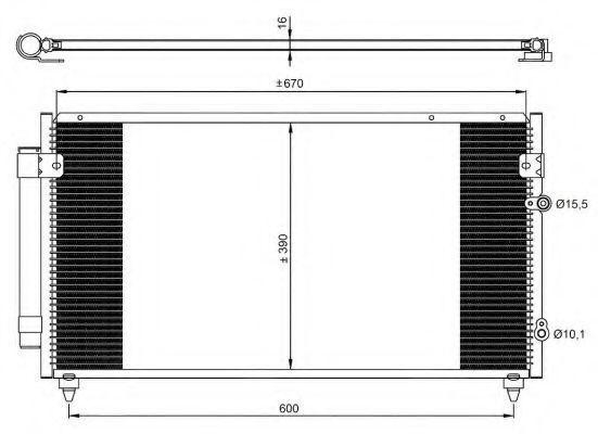 Радиатор кондиционера NRF 350072