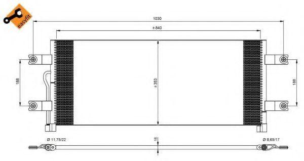 Радиатор кондиционера NRF 350075