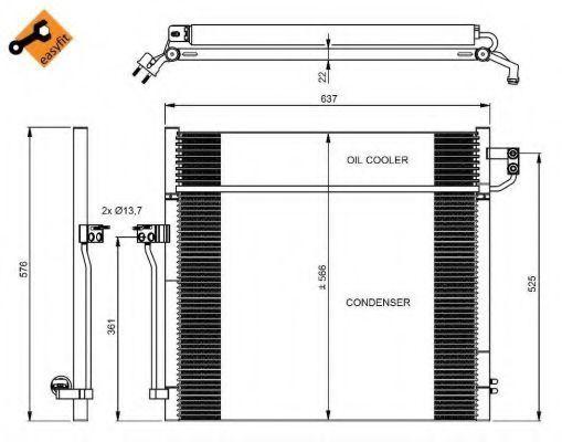 Радиатор кондиционера NRF 350080