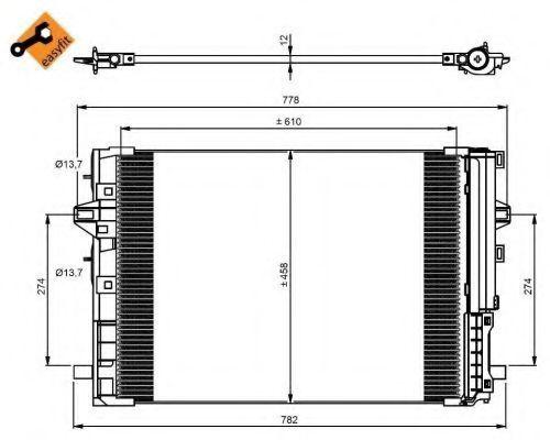 Радиатор кондиционера NRF 350081