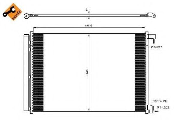 Радиатор кондиционера NRF 350082