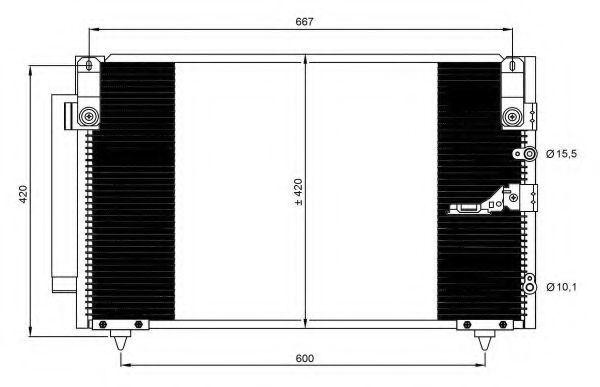 Радиатор кондиционера NRF 350093