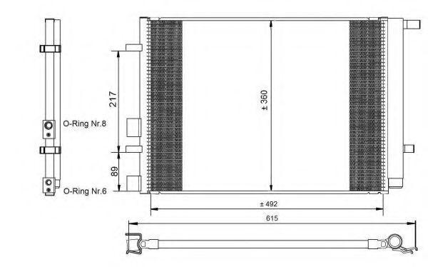 Радиатор кондиционера NRF 350095