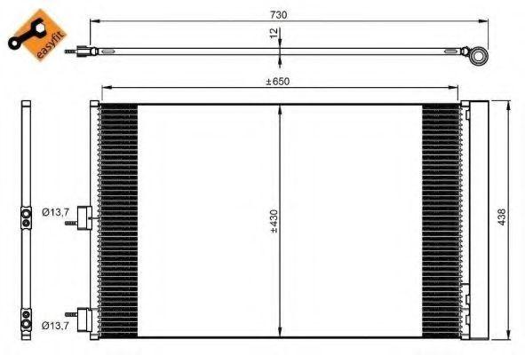 Радиатор кондиционера NRF 350206