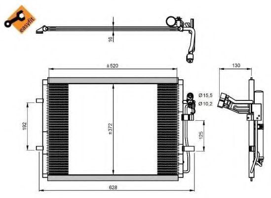 Радиатор кондиционера NRF 350207