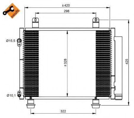 Радиатор кондиционера NRF 350208