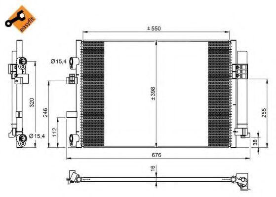 Радиатор кондиционера NRF 350209