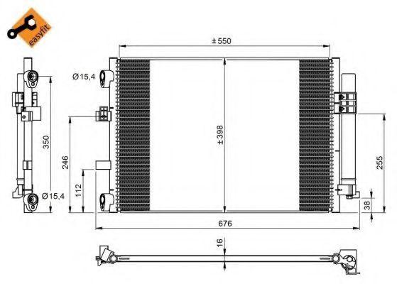 Радиатор кондиционера NRF 350210