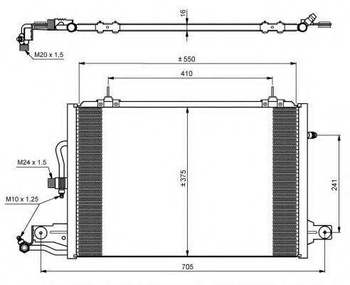 Радиатор кондиционера NRF 35031