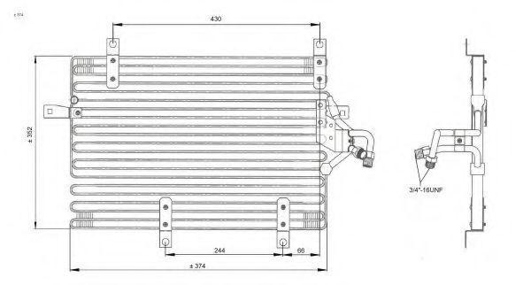 Радиатор кондиционера NRF 35052