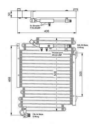 Конденсор кондиционера NRF 35056
