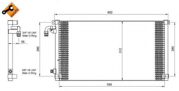 Радиатор кондиционера NRF 35103