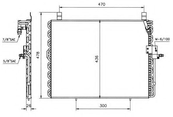 Радиатор кондиционера NRF 35128