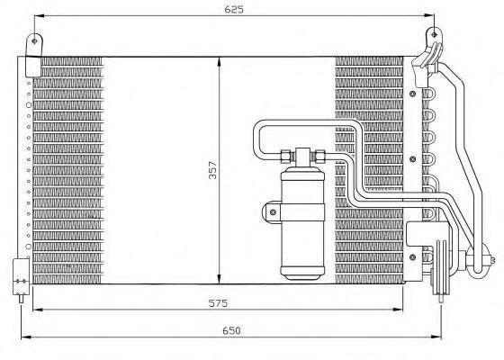 Радиатор кондиционера NRF 35134
