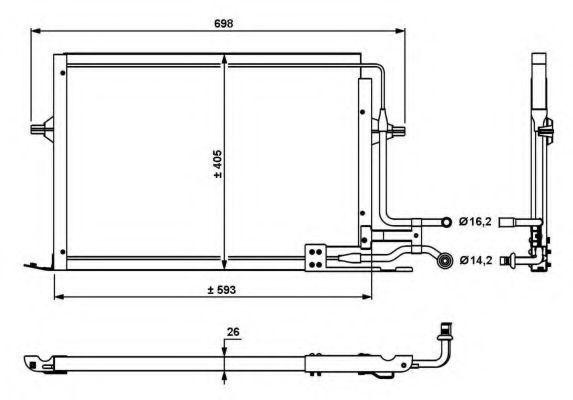 Радиатор кондиционера NRF 35139