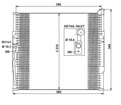 Радиатор кондиционера NRF 35146