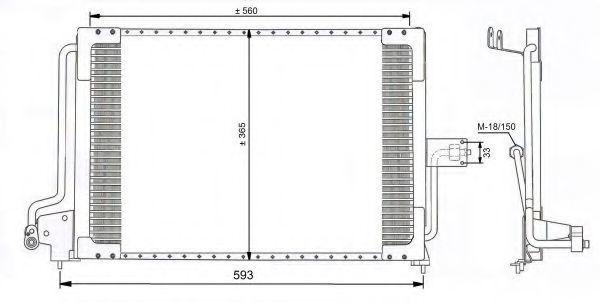 Радиатор кондиционера NRF 35182