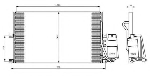 Радиатор кондиционера NRF 35183