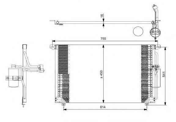 Радиатор кондиционера NRF 35184