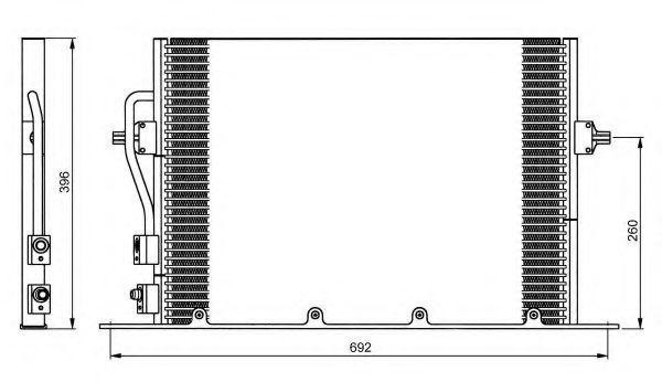 Радиатор кондиционера NRF 35196