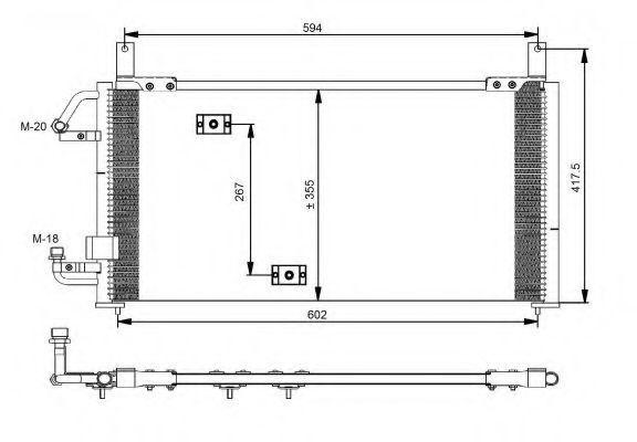 Радиатор кондиционера NRF 35197