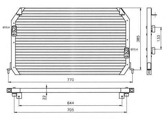 Радиатор кондиционера NRF 35203