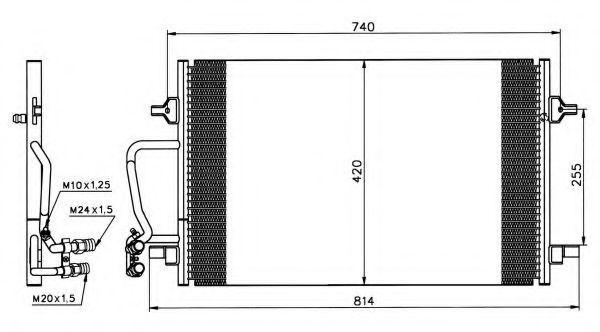 Радиатор кондиционера NRF 35226