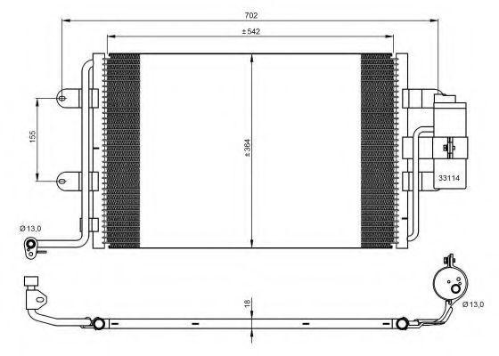Радиатор кондиционера NRF 35227