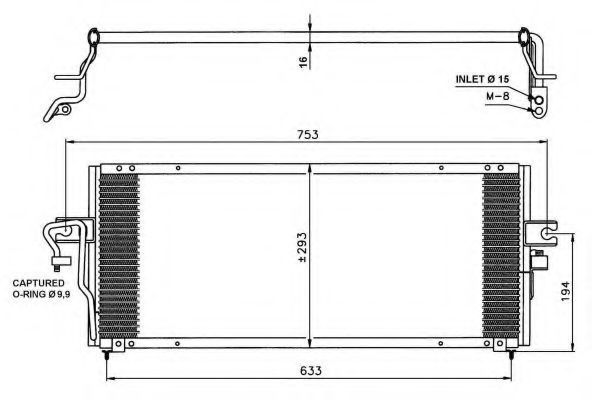 Радиатор кондиционера NRF 35231