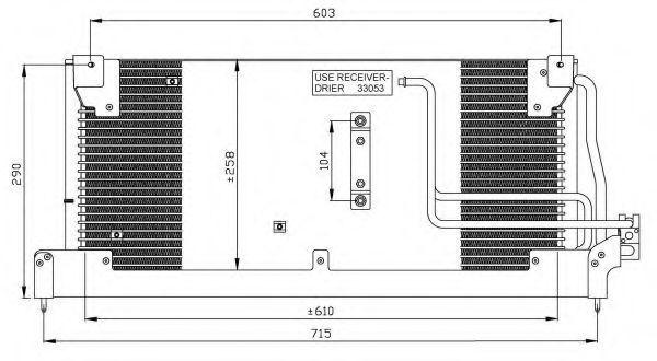 Радиатор кондиционера NRF 35242