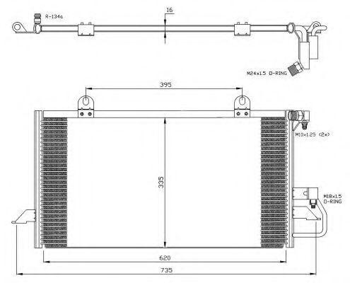 Радиатор кондиционера NRF 35247