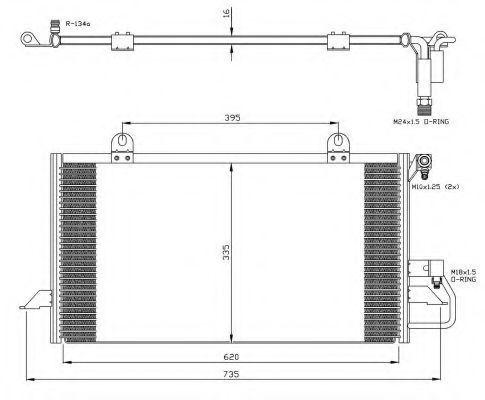 Радиатор кондиционера NRF 35248