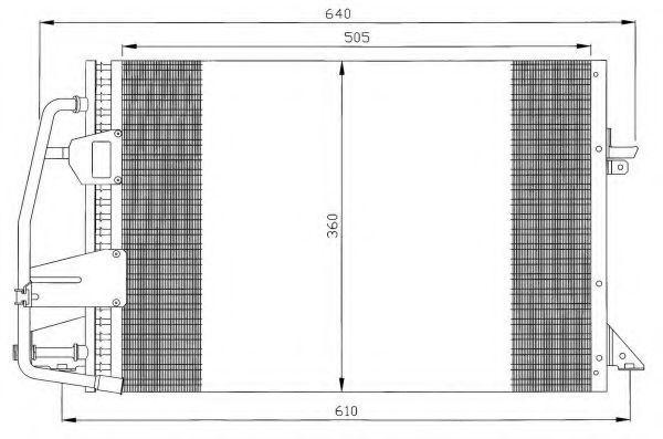 Радиатор кондиционера NRF 35251