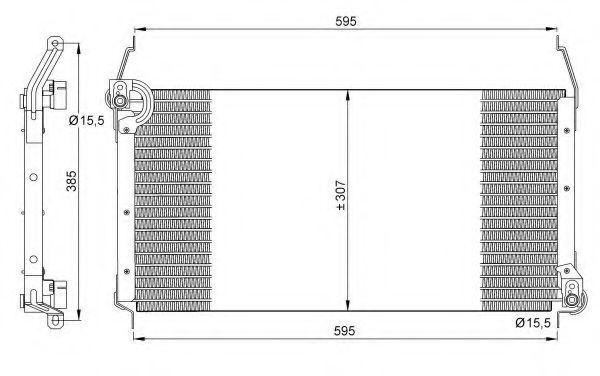 Радиатор кондиционера NRF 35259