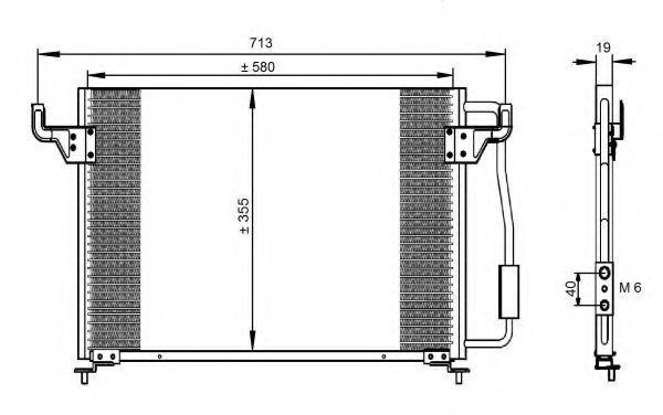 Радиатор кондиционера NRF 35261