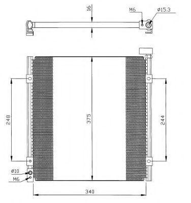 Радиатор кондиционера NRF 35264