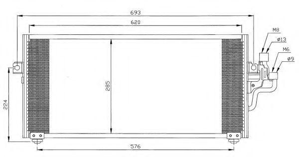 Радиатор кондиционера NRF 35268