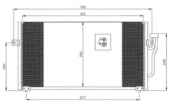 Радиатор кондиционера NRF 35293