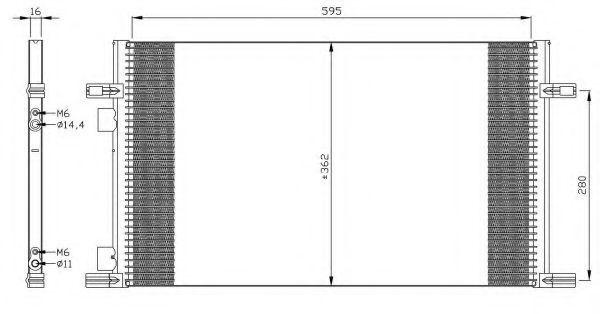 Конденсор кондиционера NRF 35298