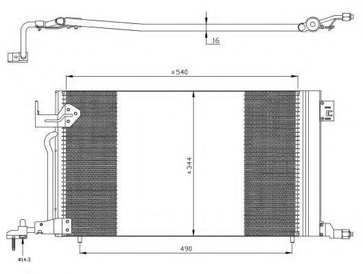 Радиатор кондиционера NRF 35304