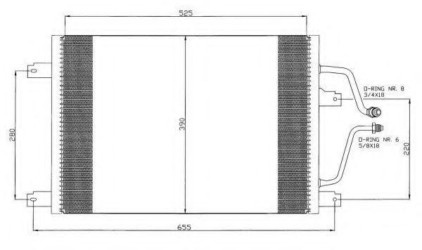 Радиатор кондиционера NRF 35312