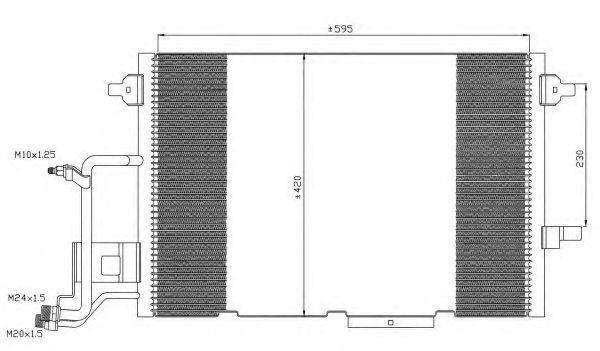 Радиатор кондиционера NRF 35317