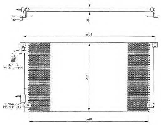 Радиатор кондиционера NRF 35328